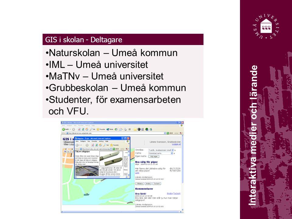 Naturskolan – Umeå kommun IML – Umeå universitet