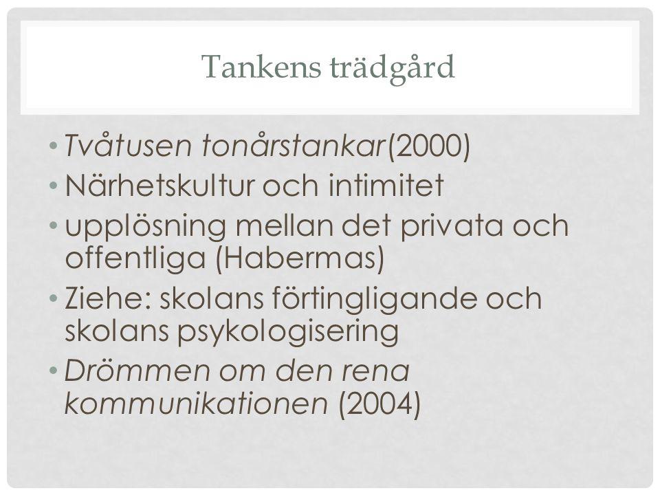 Tankens trädgård Tvåtusen tonårstankar(2000)