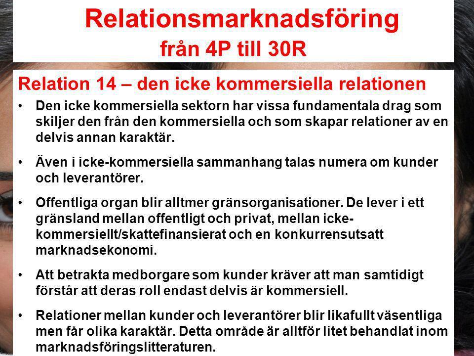 Relationsmarknadsföring från 4P till 30R