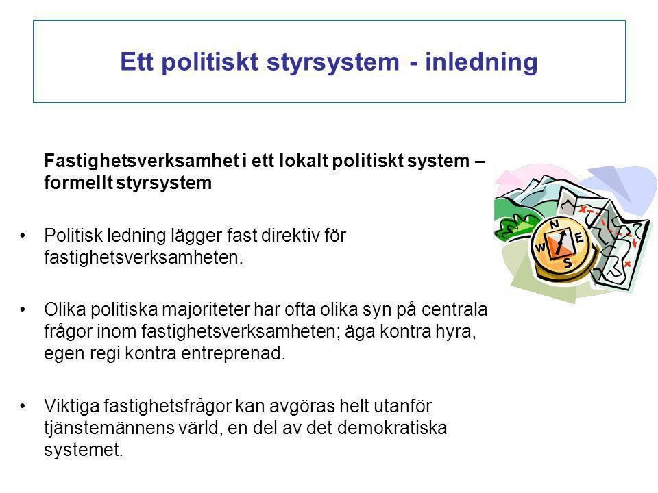 Ett politiskt styrsystem - inledning