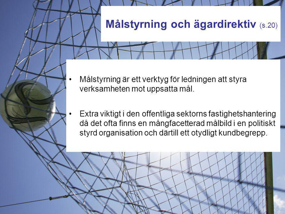Målstyrning och ägardirektiv (s.20)