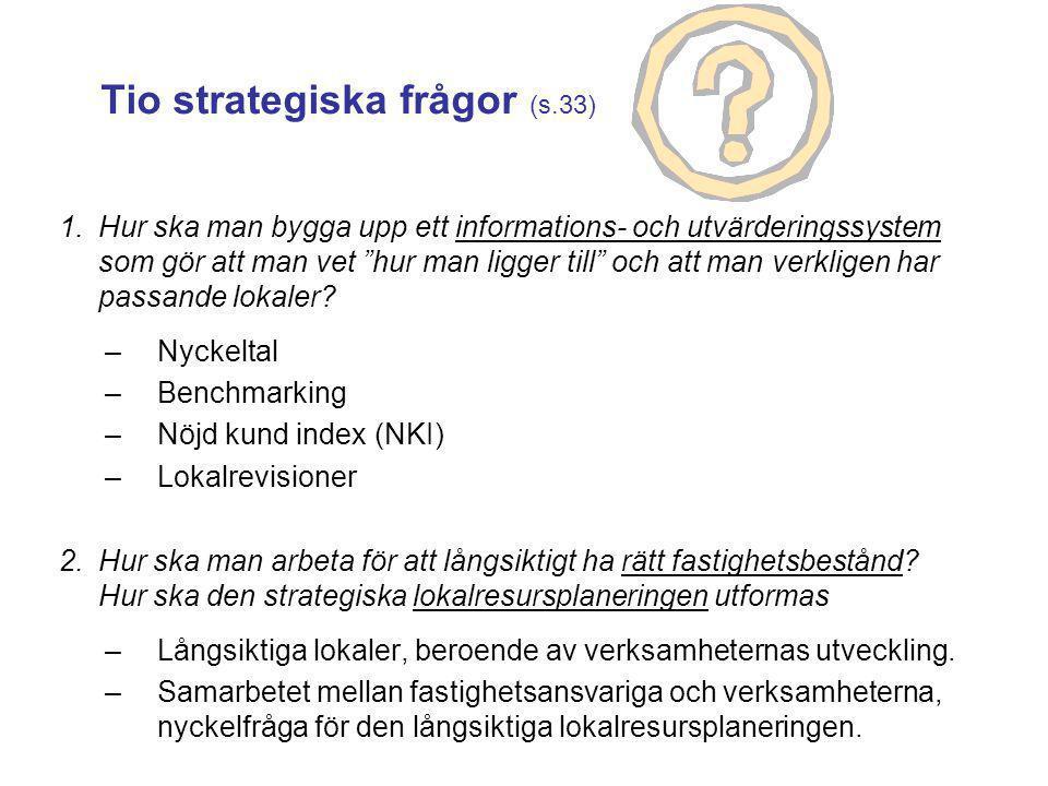 Tio strategiska frågor (s.33)