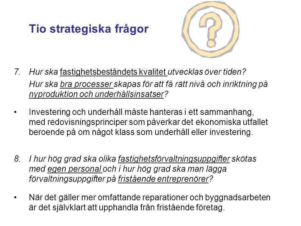Tio strategiska frågor