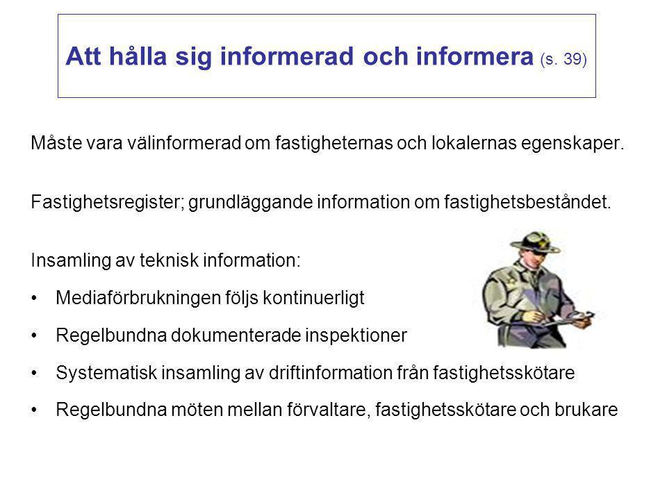 Att hålla sig informerad och informera (s. 39)