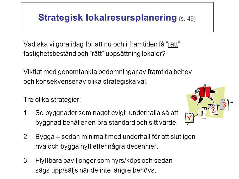 Strategisk lokalresursplanering (s. 49)