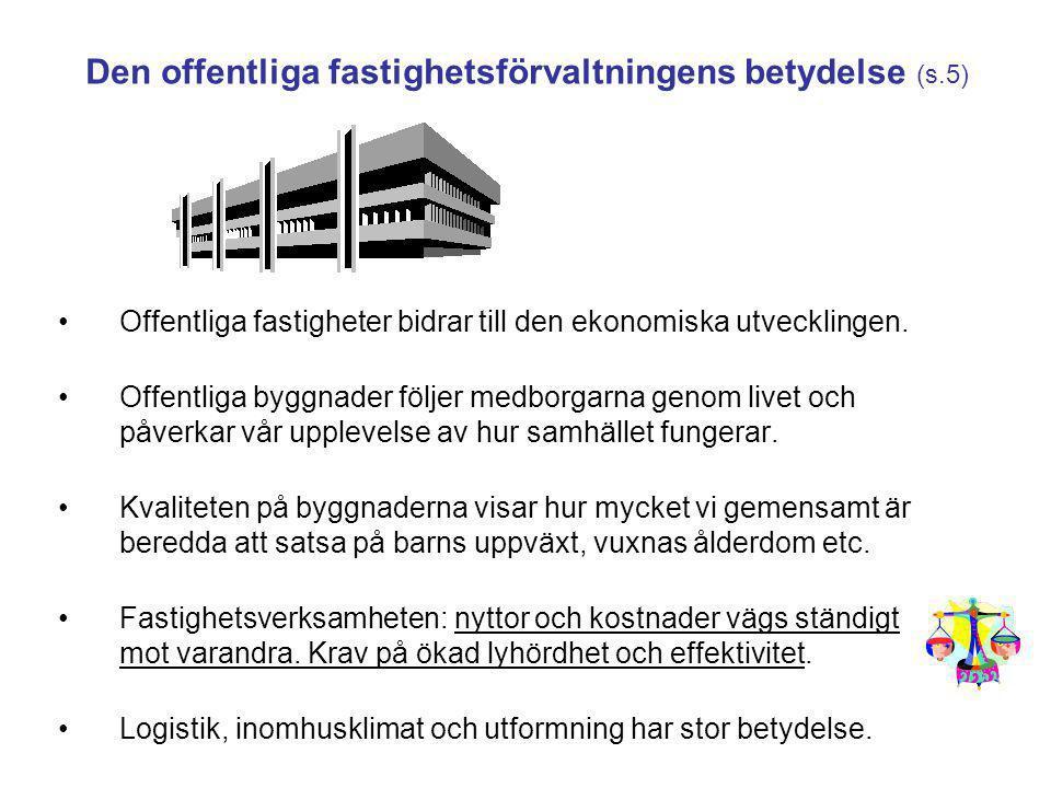 Den offentliga fastighetsförvaltningens betydelse (s.5)