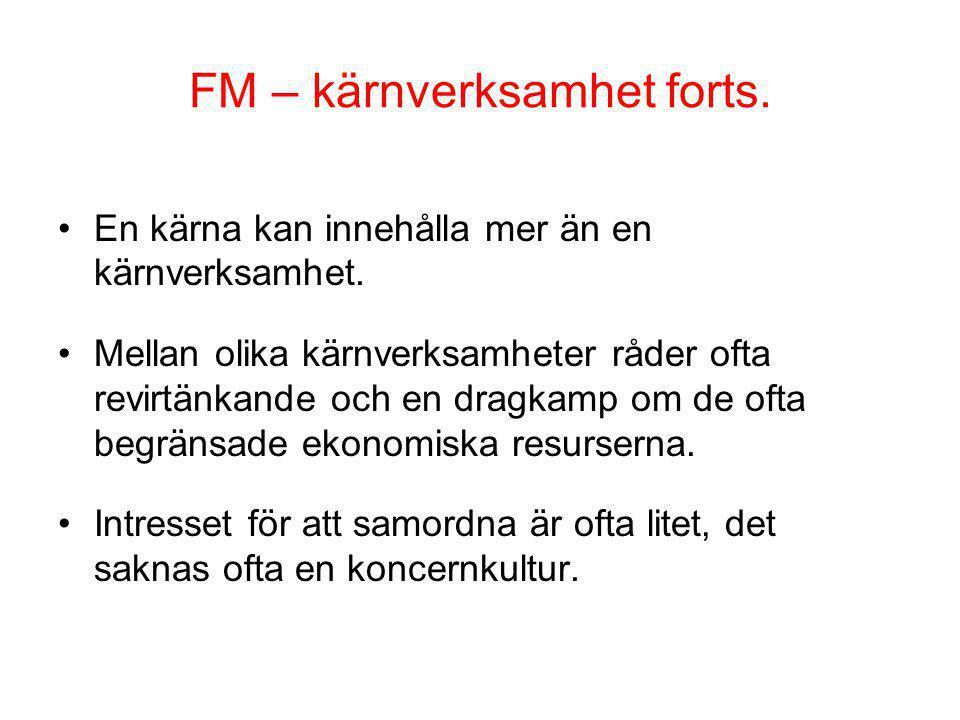 FM – kärnverksamhet forts.