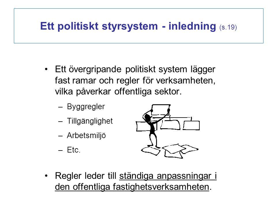 Ett politiskt styrsystem - inledning (s.19)