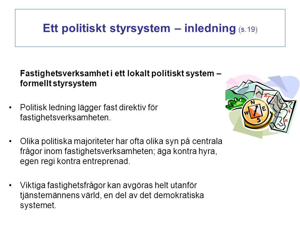 Ett politiskt styrsystem – inledning (s.19)