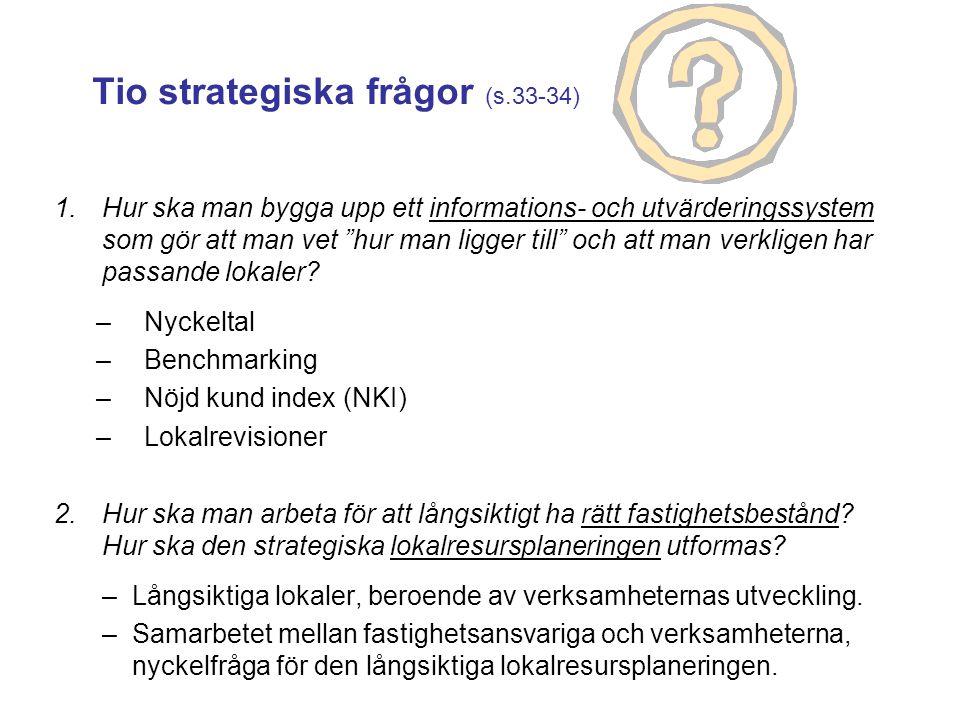 Tio strategiska frågor (s.33-34)
