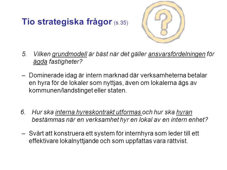 Tio strategiska frågor (s.35)