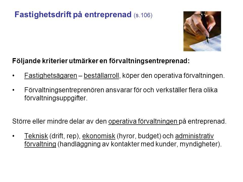 Fastighetsdrift på entreprenad (s.106)