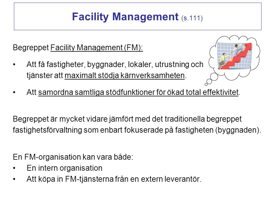 Facility Management (s.111)
