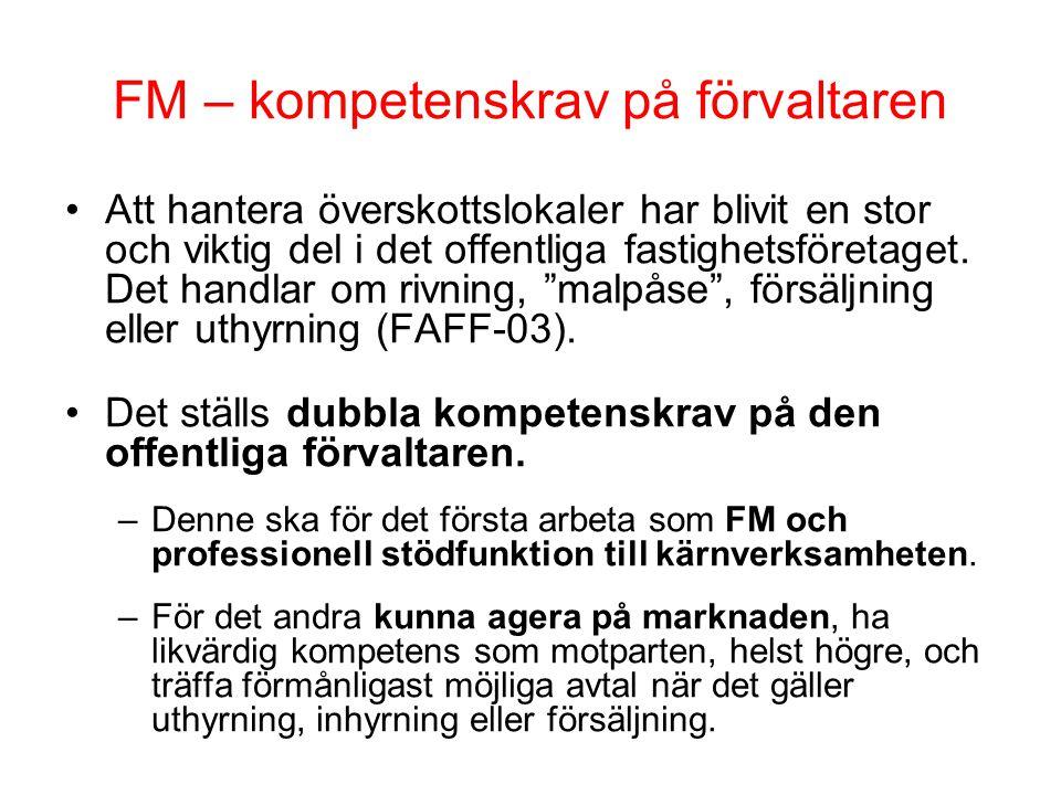 FM – kompetenskrav på förvaltaren