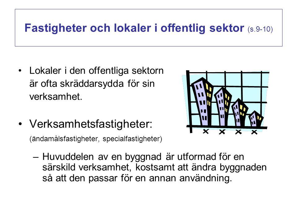 Fastigheter och lokaler i offentlig sektor (s.9-10)