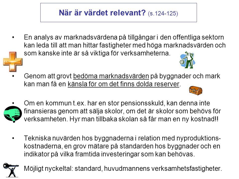 När är värdet relevant (s.124-125)