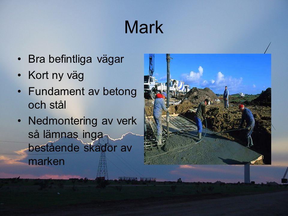 Mark Bra befintliga vägar Kort ny väg Fundament av betong och stål