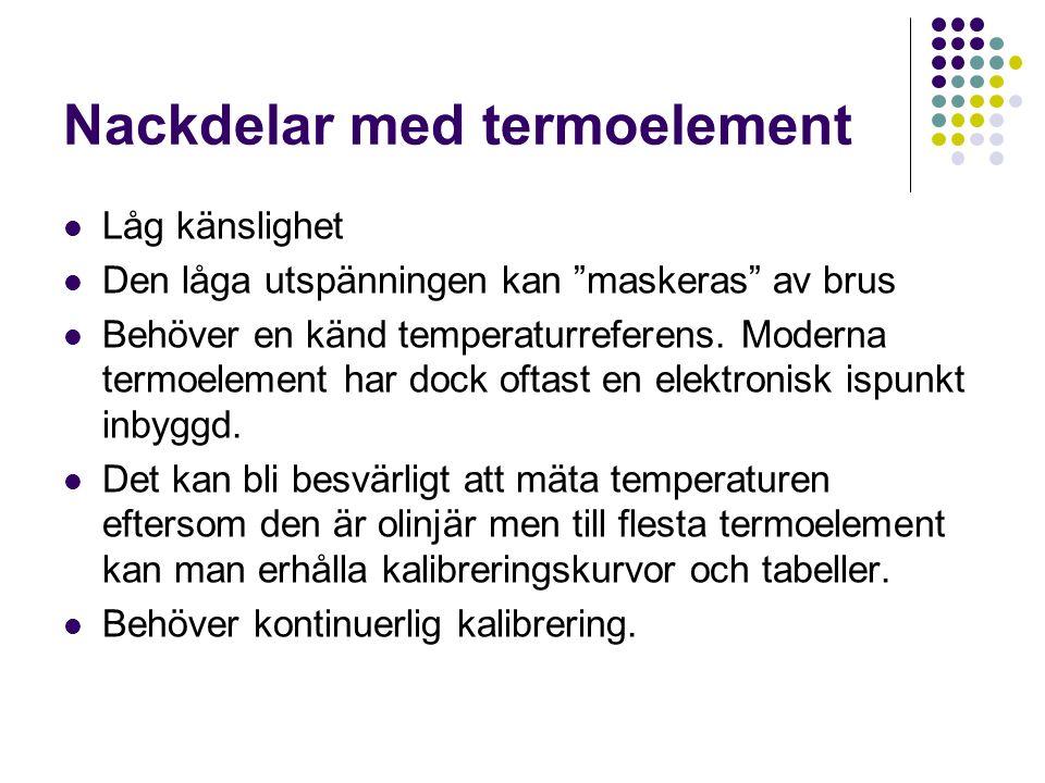 Nackdelar med termoelement