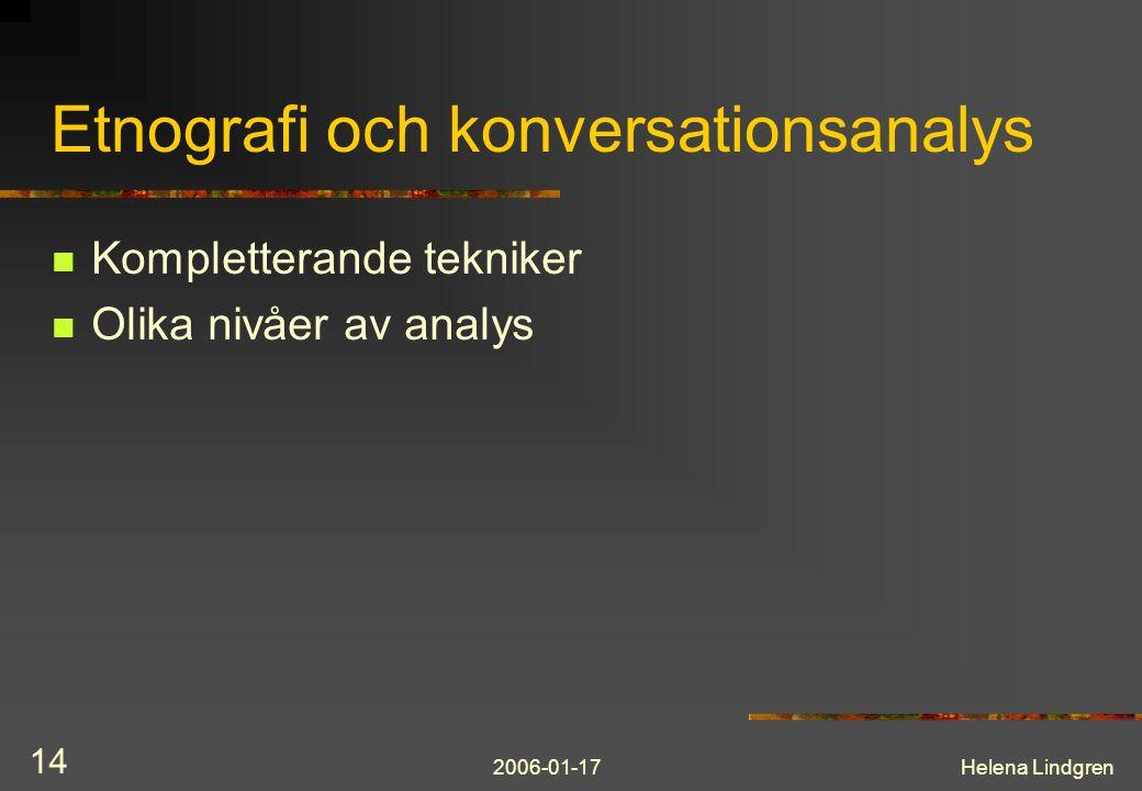 Etnografi och konversationsanalys