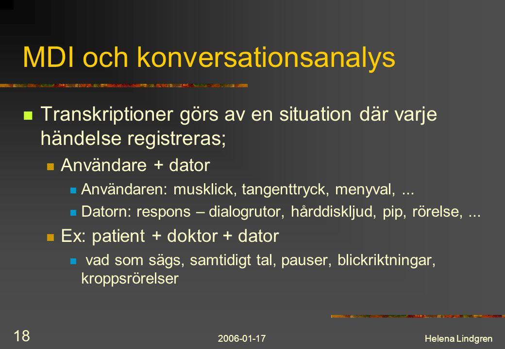 MDI och konversationsanalys