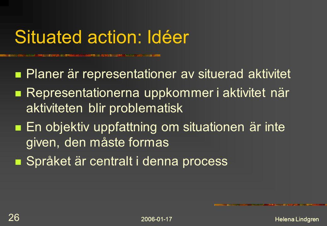 Situated action: Idéer