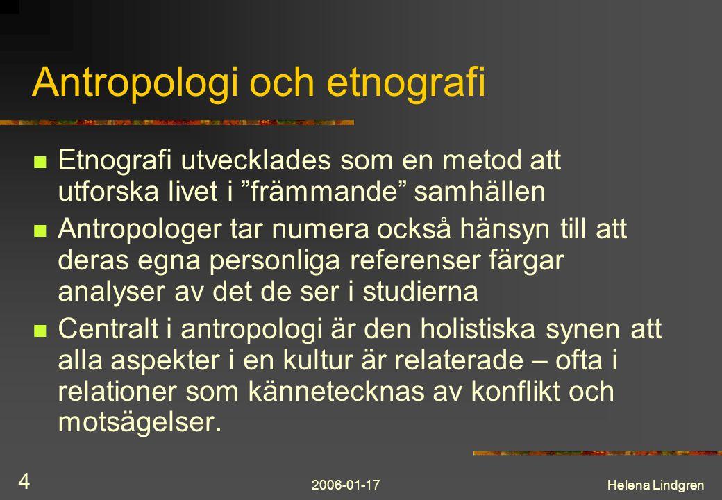 Antropologi och etnografi