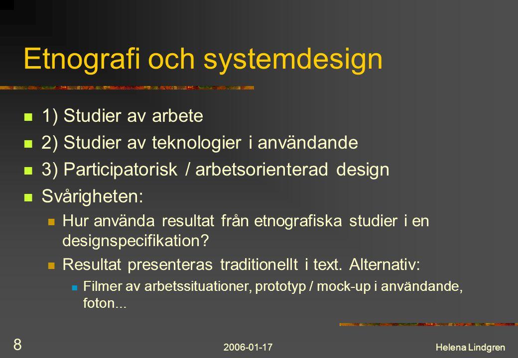 Etnografi och systemdesign