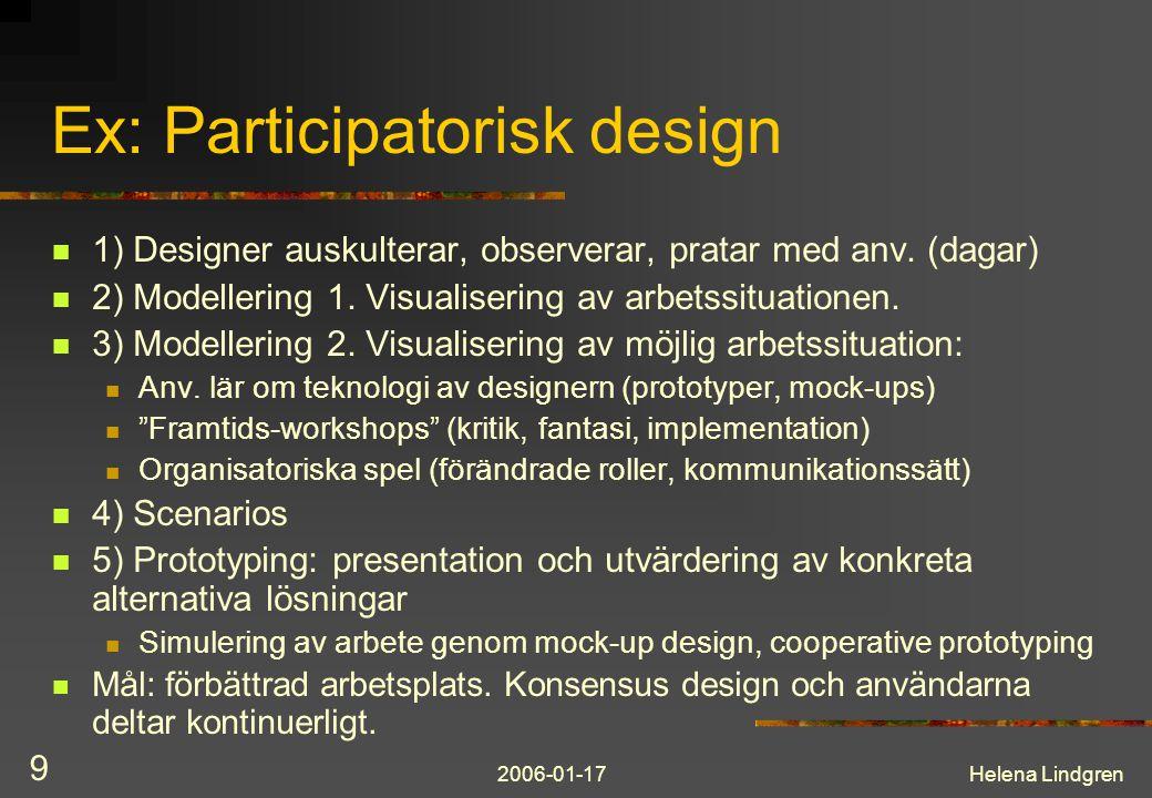 Ex: Participatorisk design