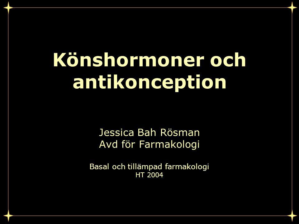 Könshormoner och antikonception