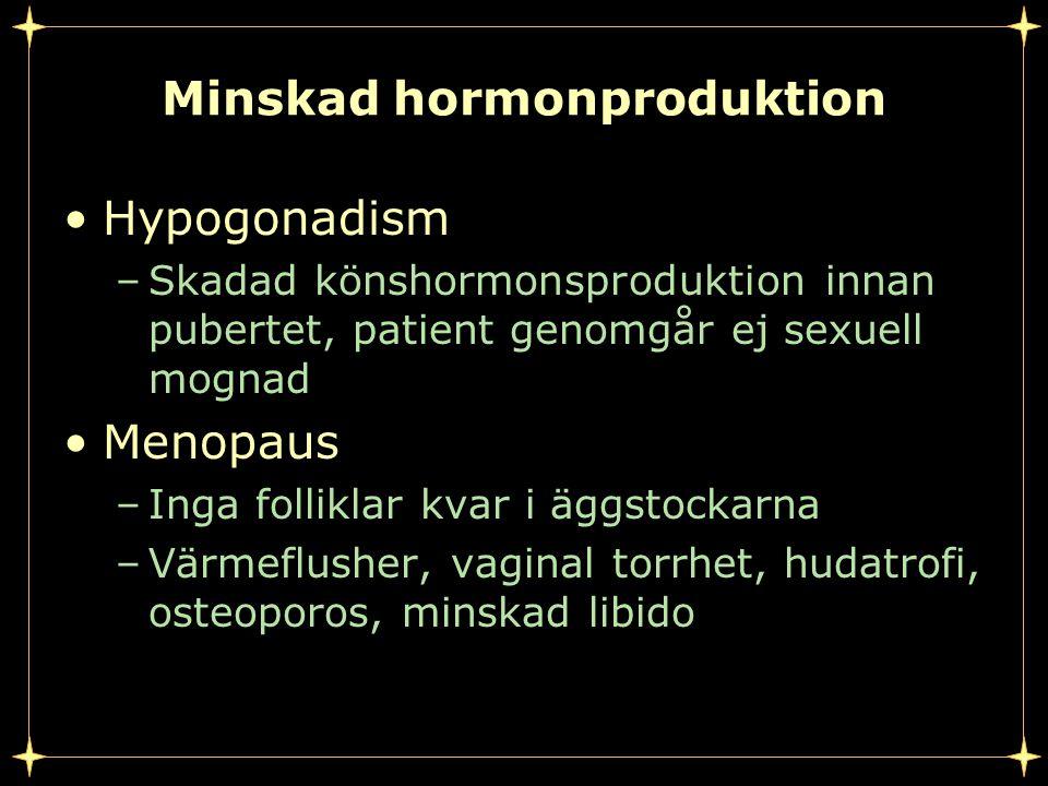 Minskad hormonproduktion