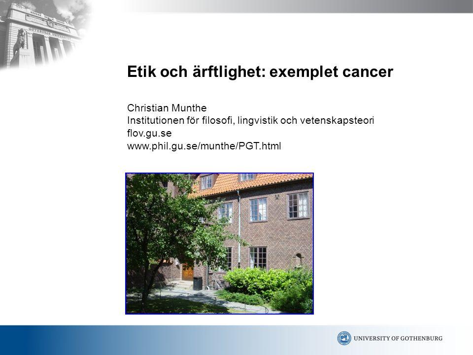 Etik och ärftlighet: exemplet cancer