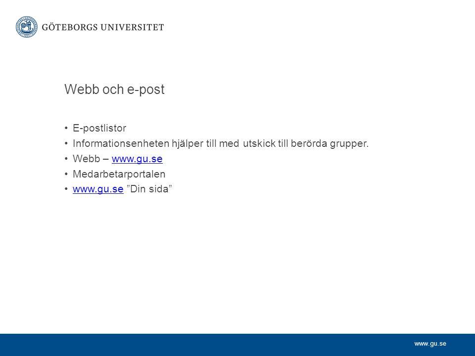 Webb och e-post E-postlistor