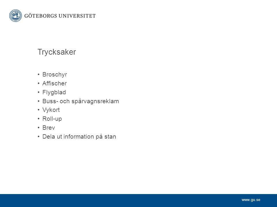 Trycksaker Broschyr Affischer Flygblad Buss- och spårvagnsreklam