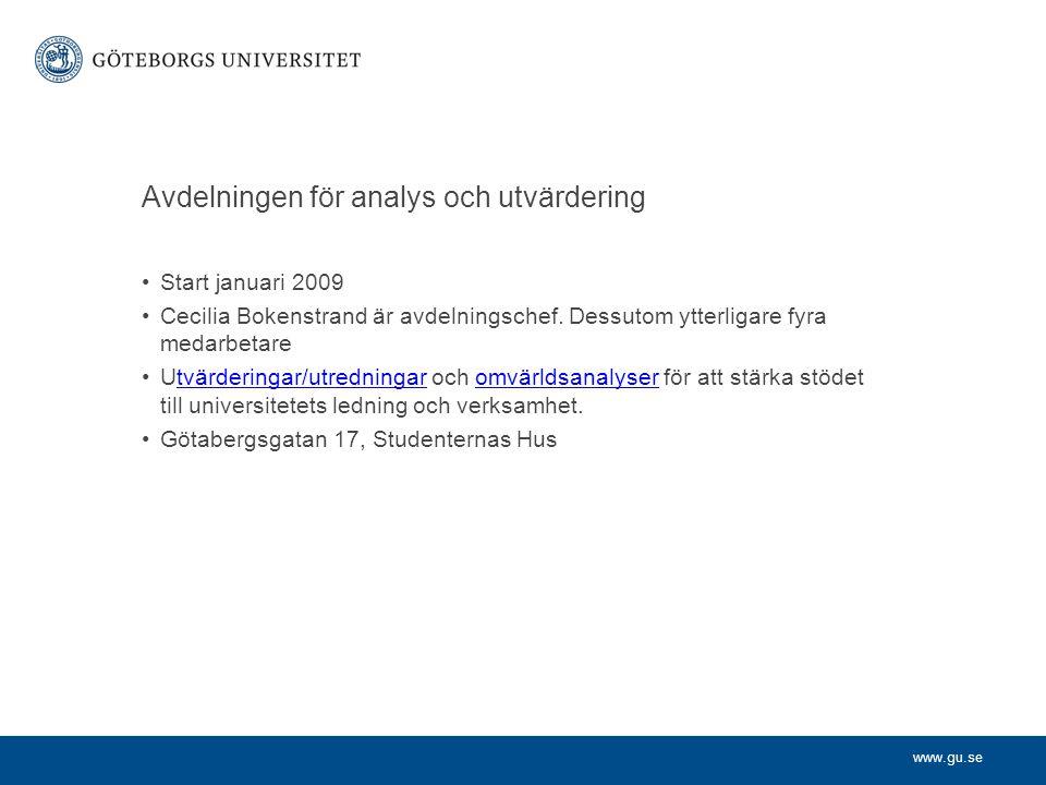 Avdelningen för analys och utvärdering