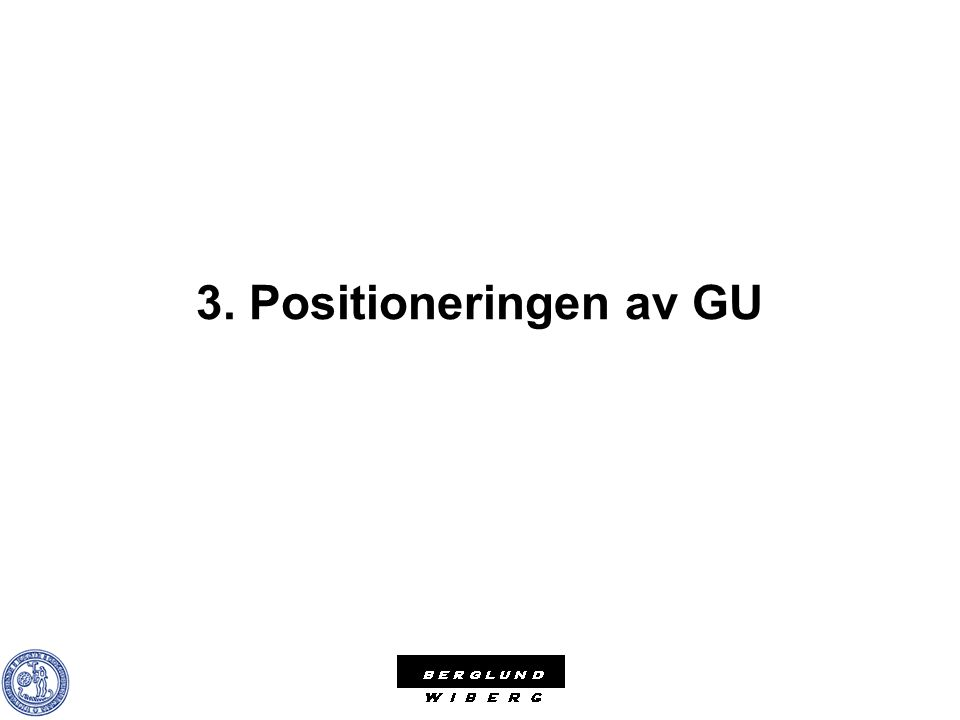 3. Positioneringen av GU