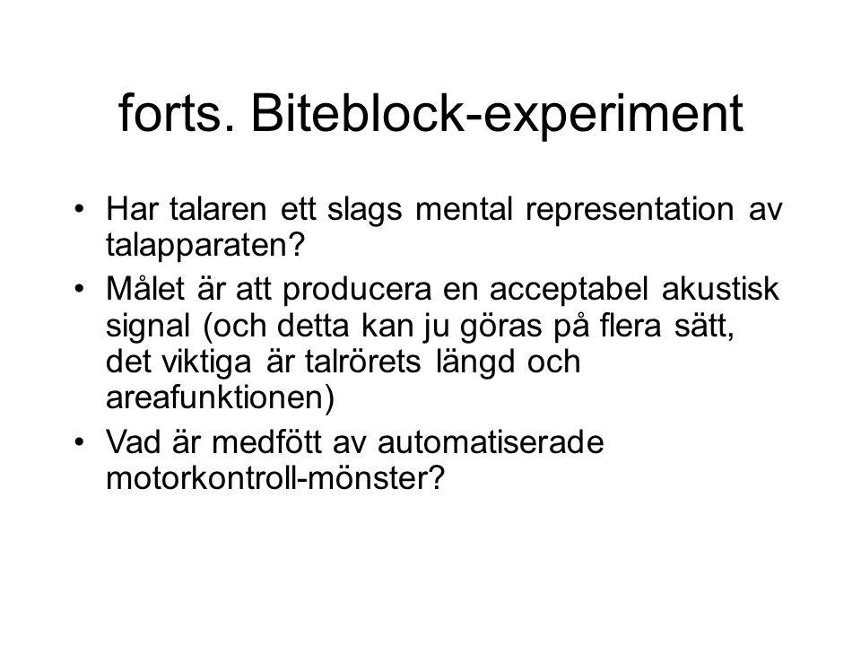 forts. Biteblock-experiment