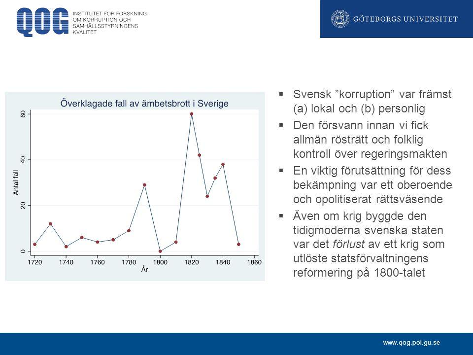 Svensk korruption var främst (a) lokal och (b) personlig