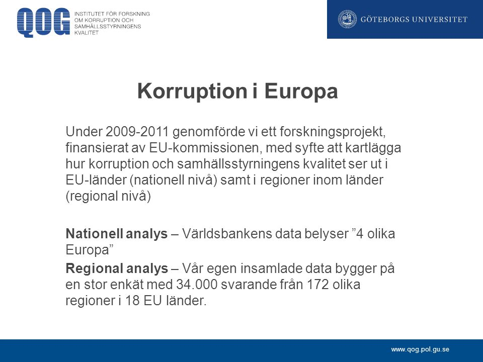 Korruption i Europa
