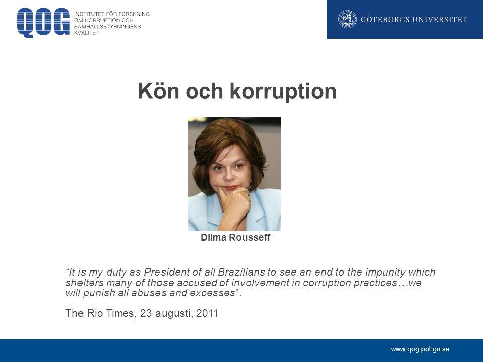 Kön och korruption Dilma Rousseff.