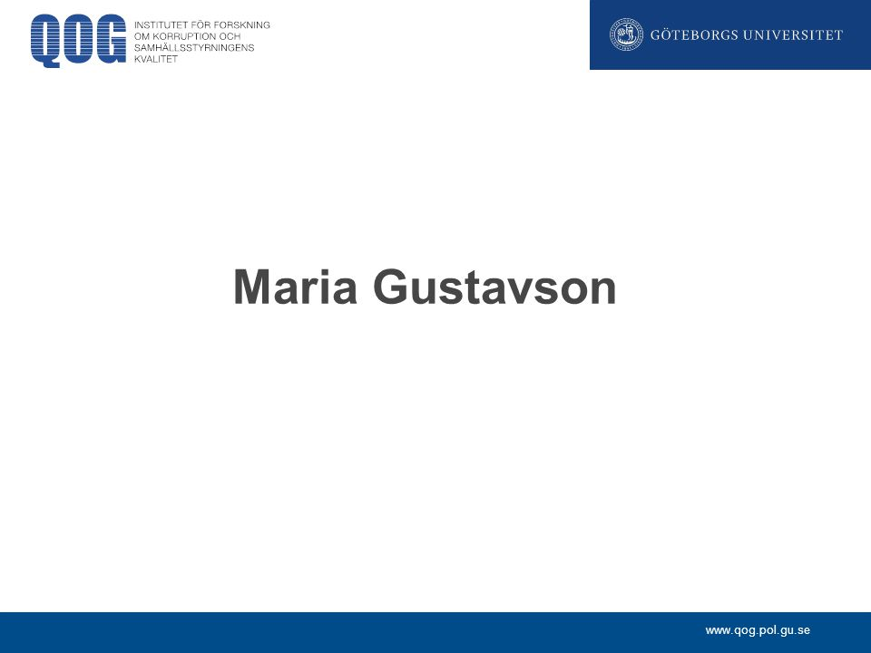 Maria Gustavson