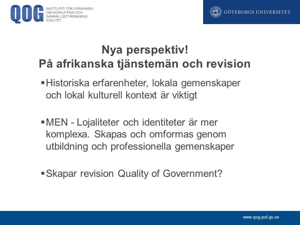 Nya perspektiv! På afrikanska tjänstemän och revision