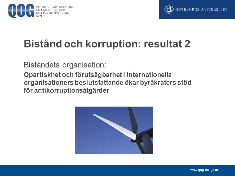 Bistånd och korruption: resultat 2