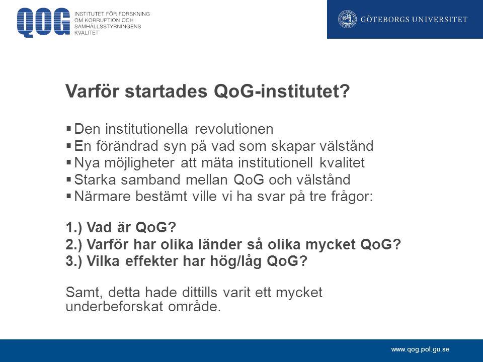 Varför startades QoG-institutet
