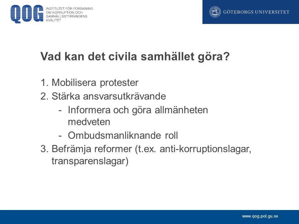 Vad kan det civila samhället göra