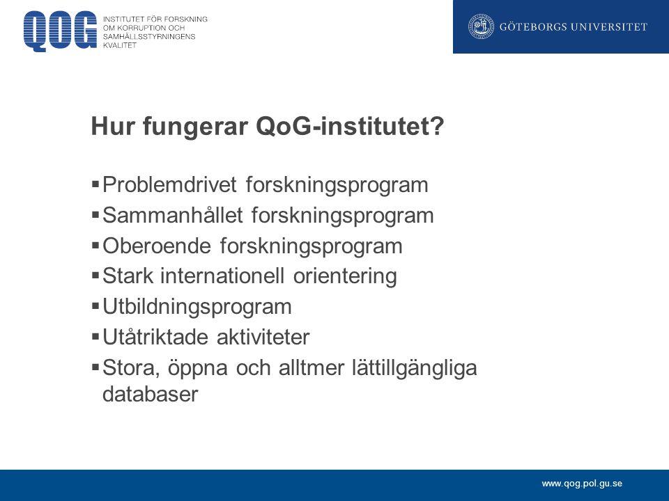 Hur fungerar QoG-institutet