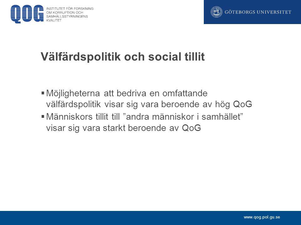 Välfärdspolitik och social tillit