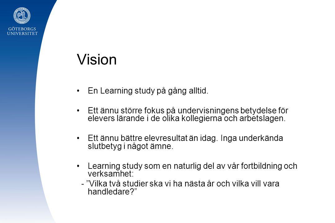 Vision En Learning study på gång alltid.