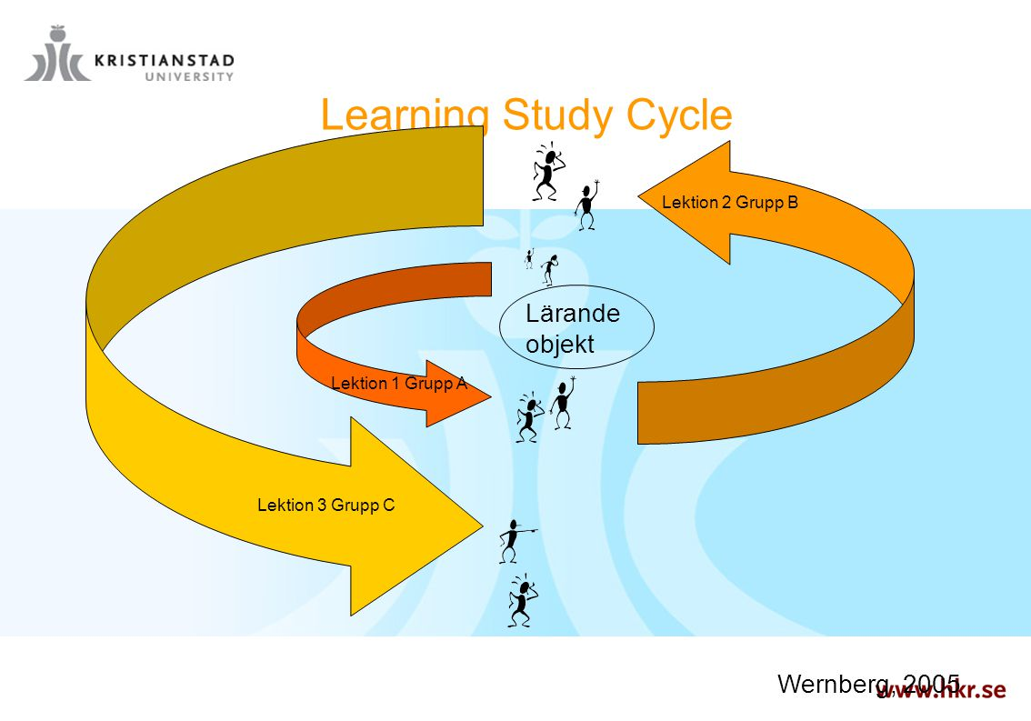 Learning Study Cycle Lärande objekt Wernberg, 2005 Lektion 2 Grupp B