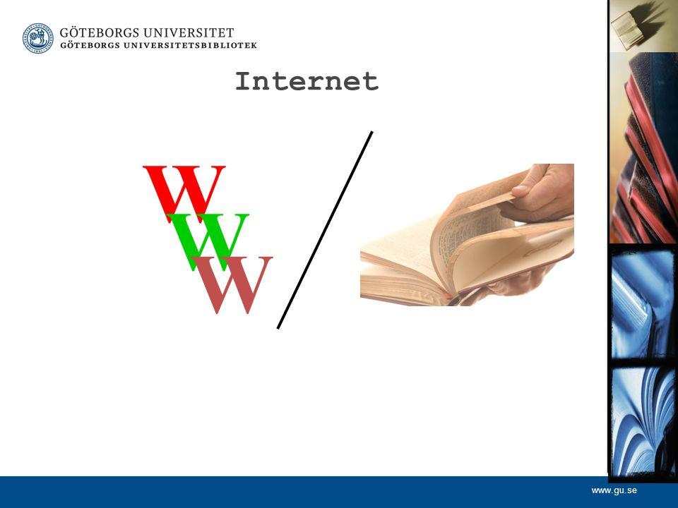 Internet W. W. W. En källa kan vara = brev, protokoll, böcker, tidningar, muntlig, bild, byggnader, fotspår etc etc.