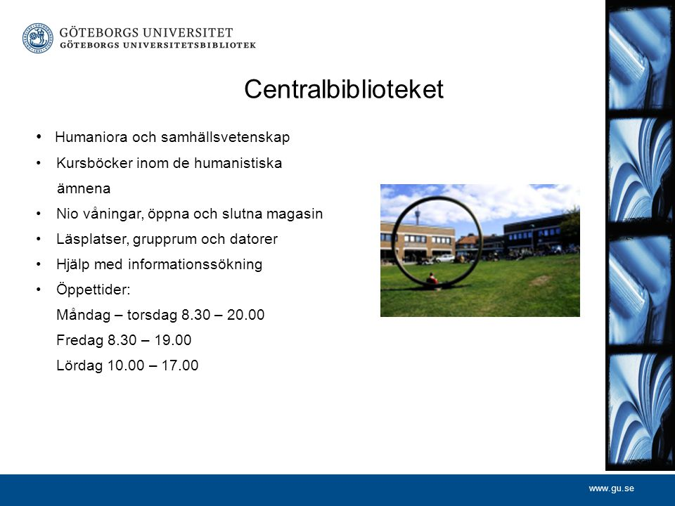 Centralbiblioteket Humaniora och samhällsvetenskap